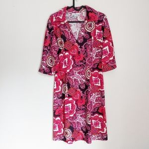 Jude Connally Michelle Paisley Collared Dress S